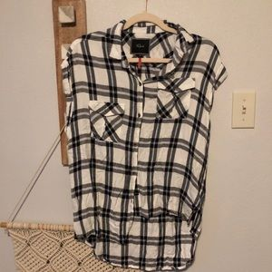Rails x Free People Button Up Plaid Flannel Top